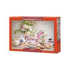 Puzzle 500 piese Still Life With Porcelain And Flowers - Castorland