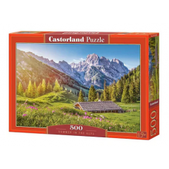 Puzzle 500 piese Summer In The Alps - Castorland