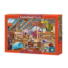 Puzzle 500 piese The Cluttered Attic - Castorland