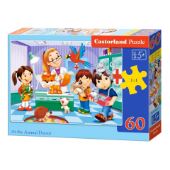 Puzzle 60 piese At The Animal Doctor - Castorland