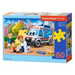 Puzzle 60 piese First Aid - Castorland