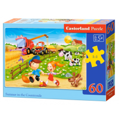 Puzzle 60 piese Summer In The Countryside - Castorland