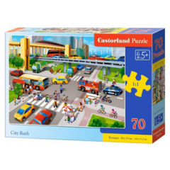 Puzzle 70 piese City Rush - Castorland