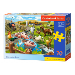 Puzzle 70 piese Life On The Farm - Castorland