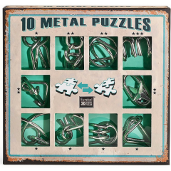 Set de 10 Puzzle-uri 3D. Metal Green - Ludicus