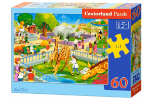 Puzzle 60 piese Zoo Visit - Castorland