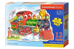 Puzzle 12 piese Maxi Huff And Puff - Castorland