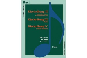 Bach – Klavierububg II, III, IV (for piano)