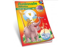 Animale salbatice – carte de colorat