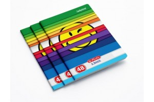 Caiet A5, 48 file, 70g/mp, dictando, colturi rotunjite, motiv Smiley 9480620 - Herlitz