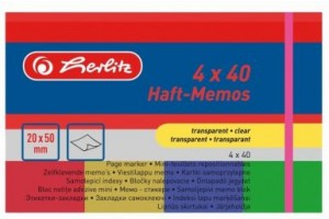 Notes adeziv transparent 40 file 079060 Herlitz