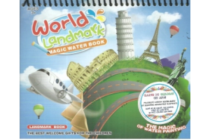 World Landmark. Magic Water Book. Carte de colorat cu apa + Carioca a aparut la editura Licii