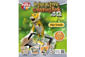 Carte interactiva 4D - Pukka Fun 4D Interactive Colouring Book - Baby Animals