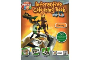 Carte interactiva 4D - Pukka Fun 4D Interactive Colouring Book - Fantasy