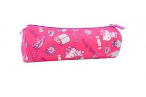 Penar Etui Tubular Hello Kitty Roz Inchis Pigna Hkpe1814-1