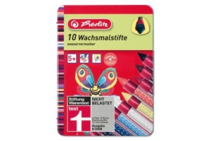 Creioane cerate 10/set in cutie de metal 864800/8 Herlitz