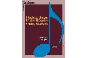 Brahms - 5 studies, 51 exercises (for piano)