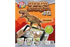 Carte interactiva 4D - Pukka Fun 4D Interactive Colouring Book - Dinosaurs