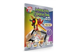 Carte interactiva 4D - Pukka Fun 4D Interactive Colouring Book - Race Day!