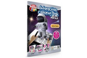 Carte interactiva 4D - Pukka Fun 4D Interactive Colouring Book - Outer Space
