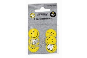 Agrafe 63mm Insigna smiley 6/set 11420080 Herlitz