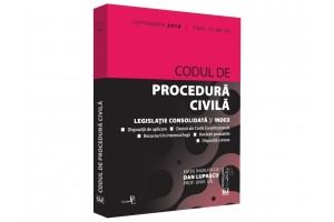 Codul de procedura civila. Legislatie consolidata si index - septembrie 2018