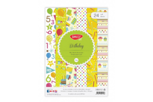 Hartie decorativa A4 24 coli Birthday HR932 - Daco