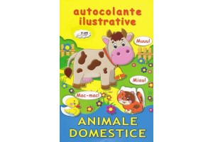 Animale domestice. Autocolante ilustrative - Editura Biblion