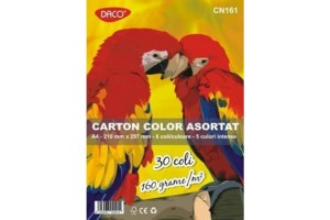 Carton color A4 30 coli 160g - Daco