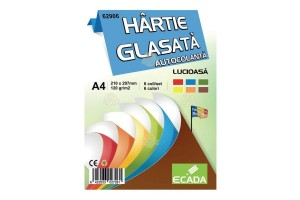 Hartie glasata autocolanta 6 file/set