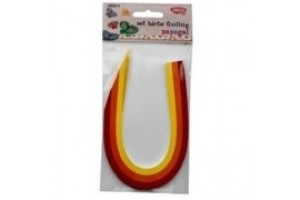 Hartie quilling 300 X 5mm papagal 200/set - Daco