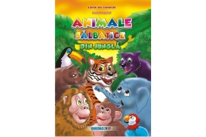 Animale salbatice din jungla - carte de colorat (rom-eng)