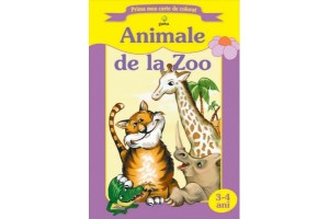 Prima mea carte de colorat - Animale de la zoo
