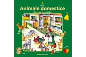 Animale domestice - Carte cu ferestruici