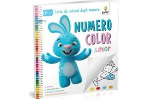Numero color junior – Carte de colorat dupa numere 2 1/2 - 4 ani