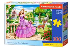 Puzzle 100 piese Princess in the Royal Garden - Castorland