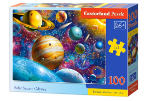 Puzzle 100 piese Solar System Odyssey - Castorland