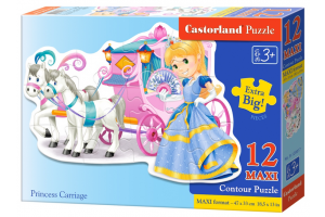 Puzzle 12 piese Maxi Princess Carriage - Castorland