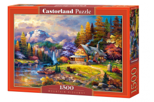 Puzzle 1500 piese Mountain Hideaway - Castorland