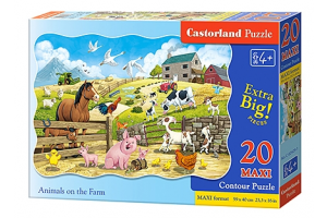 Puzzle 20 piese Maxi Animals On The Farm - Castorland