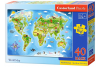 Puzzle 40 piese Maxi World Map - Castorland