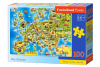 Puzzle 100 piese Map Of Europe - Castorland